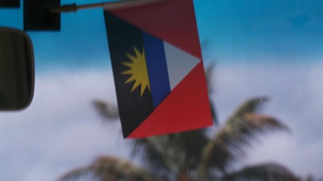 The flag of Antigua!